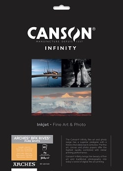 Canson Infinity Arches BFK Rives Pure White Inkjet Paper A4 310gsm 400110681 - Pack 10 Sheets