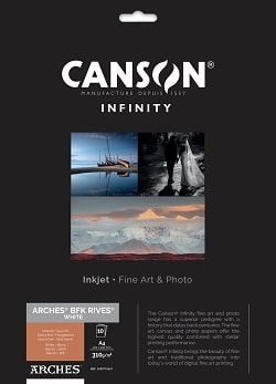 Canson Infinity Arches BFK Rives White Inkjet Paper A4 310gsm 400110667 - Pack 10 Sheets