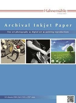 Hahnemuhle Archival Inkjet Paper Smooth 10x15cm 280gsm 10647500 - Pack 20 Sheets