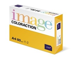 Image Coloraction Coloured Paper Mid Gold (Hawaii) A4 80gsm - Box 5 Reams