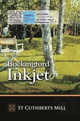 Bockingford Inkjet Paper A4 190gsm - Pack 20 Sheets