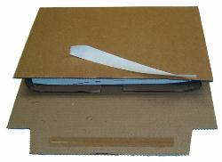 Corrugated Book Wrap 147 x 126 x 55mm CD's - Pack 20
