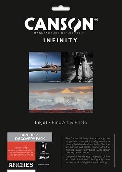 Canson Infinity A4 Arches Discovery Pack 33625H000 - Pack 8 Sheets