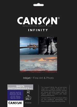 Canson Infinity Baryta Matt Photographique II Inkjet Paper A4 310gsm 400110493 - Pack 10 Sheets