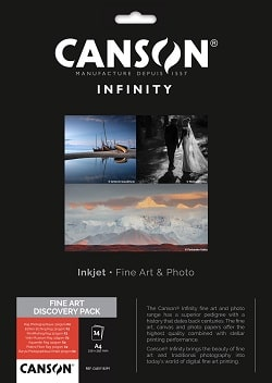 Canson Infinity A4 Fine Art Discovery Pack 400110299 - Pack 14 Sheets
