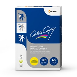 Color Copy Coated Glossy Paper (Pk=250shts) FSC A3 170gsm - Box 5 Packs