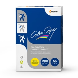 Color Copy Coated Glossy Card (Pk=250shts) FSC A4 200gsm - Box 5 Packs