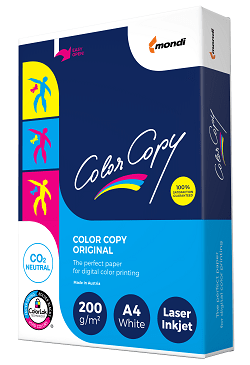 Color Copy Card  (Pk=250 shts)  FSC A4 200gsm - Box 5 Packs