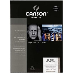Canson Infinity Edition Etching Rag Inkjet Paper A3+ (330x483mm) 310gsm 206211008 - Pack 25 Sheets