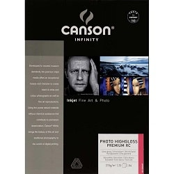 Canson Infinity Photo HighGloss Premium RC Inkjet Paper A3+ (330x483mm) 315gsm 200002286 - Pack 25 Sheets