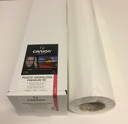 Canson Infinity Photo HighGloss Premium RC Inkjet Paper (24in roll) 610mm x 15m 315gsm 200002298 - Each Roll