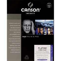 Canson Infinity Platine Fibre Rag Inkjet Paper A3+ (330x483mm) 310gsm 206211038 - Pack 25 Sheets