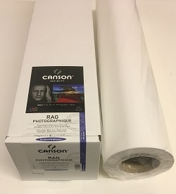 Canson Infinity Rag Photographique Inkjet Paper (60in roll) 1524mm x 15m 310gsm 200006517 - Each Roll