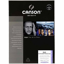Canson Infinity Rag Photographique Duo Inkjet Paper A3+ (330x483mm) 220gsm 206211018 - Pack 25 Sheets