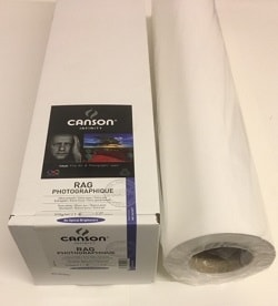 Canson Infinity Rag Photographique Inkjet Paper (24in roll) 610mm x 15m 210gsm 206212007 - Each Roll