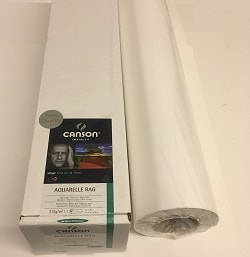 Canson Infinity Aquarelle Rag Inkjet Paper (24in roll) 610mm x 15m 310gsm 206122002 - Each Roll
