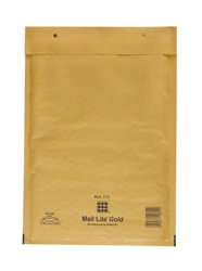 Mail Lite Padded Bubble Envelopes Gold ref F/3 220x330mm - Box 50