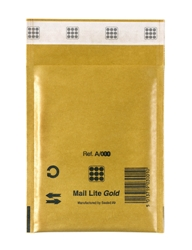 Mail Lite Padded Bubble Envelopes Gold Ref A/000 110x160mm - Box 100