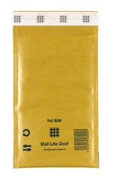 Mail Lite Padded Bubble Envelopes Gold Ref B/00 120x210mm - Box 100