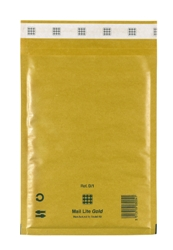 Mail Lite Padded Bubble Envelopes Gold Ref D/1 180x260mm - Box 100