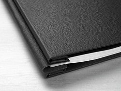 Hahnemuhle Leather Photo Album Cover Classic Black 12x12in (305x305mm) 10640742 - Each