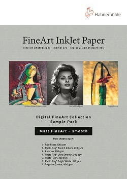 Hahnemuhle Digital Matt FineArt Smooth Sample Pack A3+ (330x483mm) 10640052 - Pack 14 Sheets