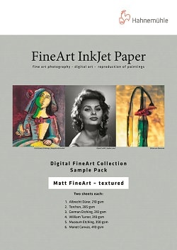 Hahnemuhle Digital Matt FineArt Textured Inkjet Paper Sample Pack A4 10640304 - Pack 10 Sheets