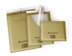 Masterline Bubble Lined Envelopes Gold Ref B00 115x195mm - Box 200