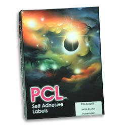 PCL Labels (PCL2516) 25x16mm 105 labels per A4 sheet Yellow - Box 21000 labels