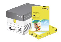 Xerox Symphony Coloured Card (Pk=250shts) PEFC Strong Dark Yellow A4 160gsm 003R94275 - Box 5 Packs