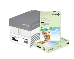 Xerox Symphony Coloured Card (Pk=250shts) PEFC Pastel Green A4 160gsm 003R93226 - Box 5 Packs