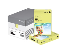 Xerox Symphony Coloured Card (Pk=250shts) PEFC Pastel Yellow A4 160gsm 003R93231 - Box 5 Packs