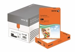Xerox Symphony Coloured Card (Pk=250shts) PEFC Strong Dark Orange A4 160gsm 003R94276 - Box 5 Packs