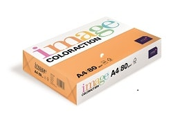 Image Coloraction Coloured Paper Neon Orange (Acapulco) A4 80gsm - Box 5 Reams