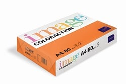 Image Coloraction Coloured Paper Deep Orange (Amsterdam) A4 80gsm - Box 5 Reams