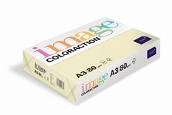 Image Coloraction Coloured Paper Pale Ivory (Atoll) A3 80gsm - Box 5 Reams
