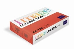 Image Coloraction Coloured Paper (Pk=250shts) Deep Red (Chile) A4 120gsm - Box 5 Packs