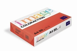 Image Coloraction Coloured Paper Deep Red (Chile) A4 80gsm - Box 5 Reams