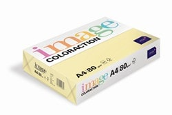 Image Coloraction Coloured Paper Pale Yellow (Desert) A4 80gsm - Box 5 Reams