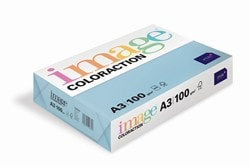 Image Coloraction Coloured Paper Pale Icy Blue (Iceberg) A3 100gsm - Box 4 Reams