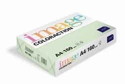 Image Coloraction Coloured Card (Pk=250shts) Pale Green (Jungle) A4 160gsm  - Box 5 Packs
