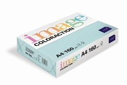 Image Coloraction Coloured Card (Pk=250shts) Pale Blue (Lagoon) A4 160gsm - Box 5 Packs