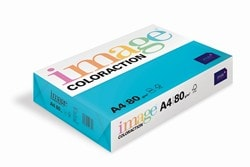Image Coloraction Coloured Paper Deep Turquoise (Lisbon) A4 80gsm - Box 5 Reams