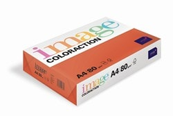 Image Coloraction Coloured Paper Deep Red (London) A4 80gsm - Box 5 Reams