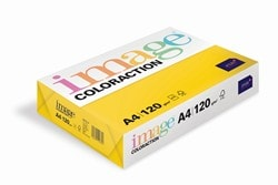 Image Coloraction Coloured Paper (Pk=250shts) Deep Yellow (Sevilla) A4 120gsm - Box 5 Packs