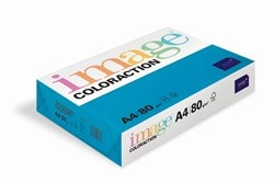 Image Coloraction Coloured Paper Deep Blue (Stockholm) A4 80gsm - Box 5 Reams