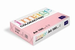 Image Coloraction Coloured Card (Pk=250shts) Pale Pink (Tropic) A4 160gsm  - Box 5 Packs