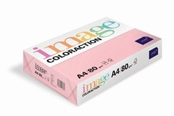 Image Coloraction Coloured Paper Pale Pink (Tropic) 2 Hole Punched A4 80gsm - Box 5 Reams