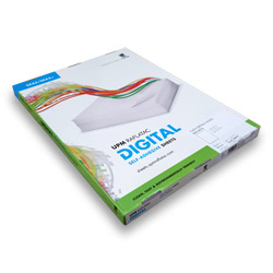 Raflatac Digital Pet Gloss White Perm Solid Back Self Adhesive Film SRA3 (320x450mm) - Box 100 Sheets