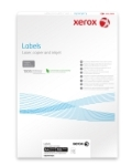 Xerox Monolaser Labels Rounded Corners A4 199x289mm 1 label/sht White Permanent 003R91225 - Box 100 Sheets
